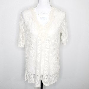 Misia Ivory Lace tap Size S